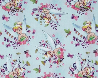 Disney Tinkerbelle Ice Blue Fabric