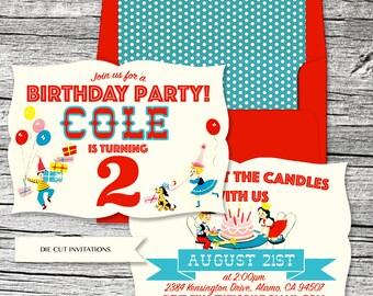 Retro Birthday Candles Invitation
