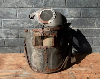 Vintage Industrial MASK / Seriously Distressed / Literally Falling Apart but Intact / Primitive Industrial Decor / Altered Art Supply / WOW