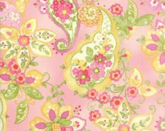 Colette - Quilting Fabric by Chez Moi from Moda - Rose Floral Paisley