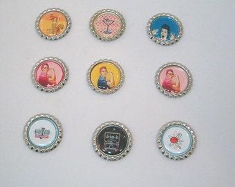 RETRO MAGNETS, Bottlecap Magnets
