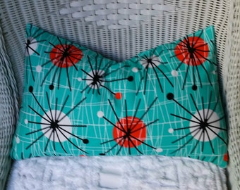 RETRO Atomic  Pillow cover All Sizes, Fabric Both Sides,Your Choice Size Pillow Cover
