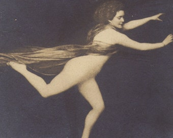 Surreal Nude Image on French Art Nouveau Postcard, circa 1900, by S.I.P.