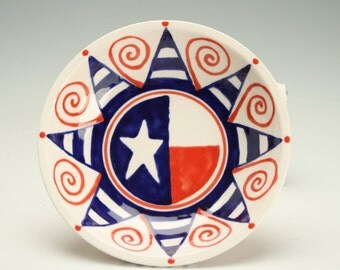 Red White and Blue American Small Bowl Table Dinnerware or Ring Trinket Bowl