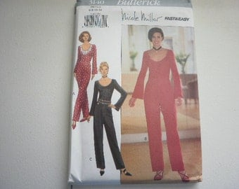 Pattern Vintage Ladies Jumpsuit Sizes 6 to 12 Butterick 3140 V