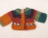 Waldorf Doll Clothes -Hand knitted Sweater , fit 7- 8 inch dolls