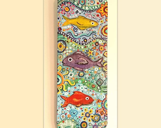 Fish Plaque Hand painted on wood