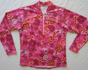 Women's Bike jersey in Sassy Pink Print - Medium