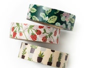 Washi tape 3 set - new leaf - value pack - DIY - packaging - decorative tape - weddings - Love My Tapes