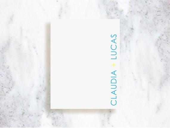 Saybrook Note Card Set - Choose Your Colors