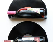Simon and Garfunkel, Three Dog Night Upcycled Vinyl Record Wine Rack/Wall Organizer - Set of 2