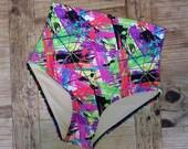 Neon Print High Waist Bikini Bottoms LIMITED EDITION