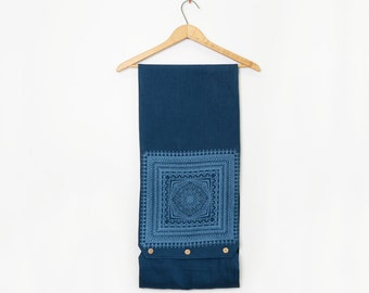 50% off: The Mineral Blue Linen Scarf