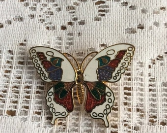 Sale 20 Vintage cloissone butterfly brooch pin.
