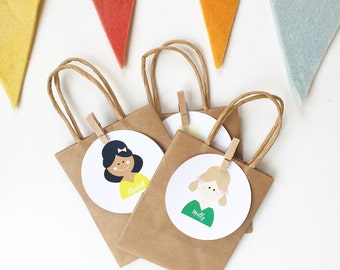 Personalized Girl Favor Bags