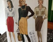 Very Vogue 8140 Vintage Skirt Pattern Size 8-10-12