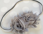 Gray Headband - Girls Gray Headband -Baby Girl Headband - Baby Headbands - Headbands for Girls