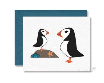 Puffin Notecard / Puffin Greeting Card / Bird Notecard / Bird Greeting Card / Blank Notecard / All Occasions card / Puffin / Bird Card