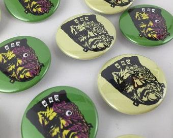 Melty Frankenstein buttons