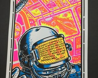 Drugs, Space, and Carl Sagan screen print