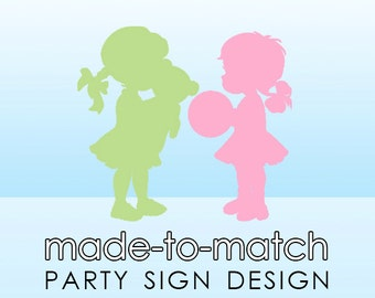 Made-to-Match Party Sign . Digital File - to coordinate with SSC Card Design