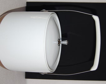 Vintage Dinex Brown and White Insulated Ice Bucket Early Thermos Ice Bucket
