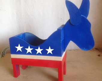 Democratic Patriotic Donkey Box Do it Yourself Pattern