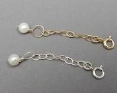 14K Gold Filled or Sterling Silver Necklace or Bracelet Extender