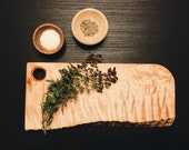 Cutting / Chopping / Serving Board - Rustic Curly Maple