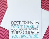 Best Friend Card - Funny Card - Funny Card for Friend - Friend Card - Best Friends - Friendship Card