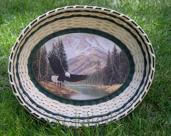 Digital Download, Instructions to Weave the Oval Art Print Tray Basket, Pattern