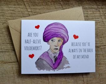 Professor Quirrell Voldemort Harry Potter Funny Valentine Card