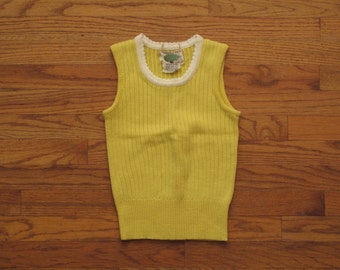 womens vintage knit tank top