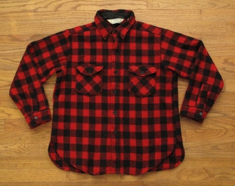 mens vintage LL Bean buffalo plaid shirt