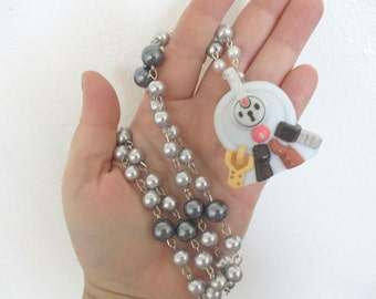 Pokémon Necklace - KLEFKI - Bandai toy Necklace - Upcycled figure