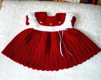 Christmas Time Party Dress for 6 to 12 Months