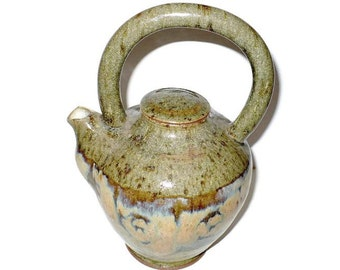 Tea pot, stoneware tea pot, handmade tea pot, asian teapot, sake,  Pottery, Stoneware Teapot, Handmade, Studio Pottery