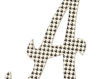 "Houndstooth ""A"", Alabama Wooden Decor AB2066, Football Decor, Sports Wreath Decorations"