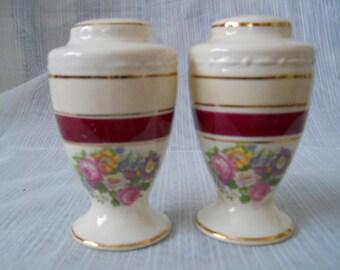 Lenox Floral Salt and Pepper Shakers - vintage, collectible, Lenox, floral