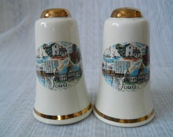 Iowa Salt and Pepper Shakers - vintage, collectible, state, Iowa, souvenir