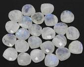 VALENTINE SALE 55% Rainbow Moonstone Faceted Heart Briolette Beads Pair, 1 pair, 14mm, SKU9015/S