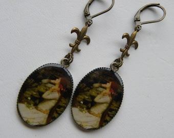 Ophelia Earrings, Renaissance Earrings, Tudor