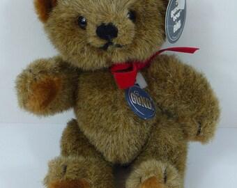Vintage Brown Plush Gunder Bear by Gund Collectors Classics 1983