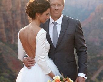Wedding Top/Low back satin top/ High quality/ High fashion/ Custom Order
