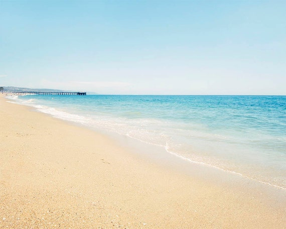 "Newport Beach Photograph, Balboa Island, California Coast,  Beach Decor, Blue Beach Decor, Beach Landscape, Coastal Home ""Balboa"""