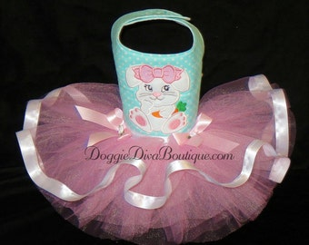 Sample Sale - Dog Dress - Dog Tutu Dress - Easter Bunny Small