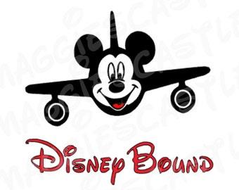 VINYL DecaL - DIY Iron On - Mickie Disney  Bound