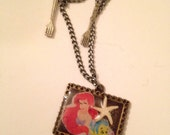 Ariel and Flounder necklace