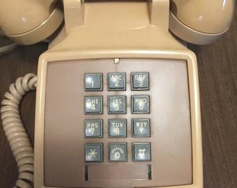 Vintage Touch Tone Push Button Desk Phone