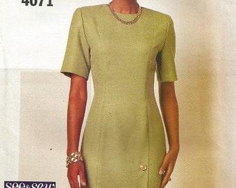 Vintage Butterick 4071 See & Sew Dress Pattern SZ 12-16